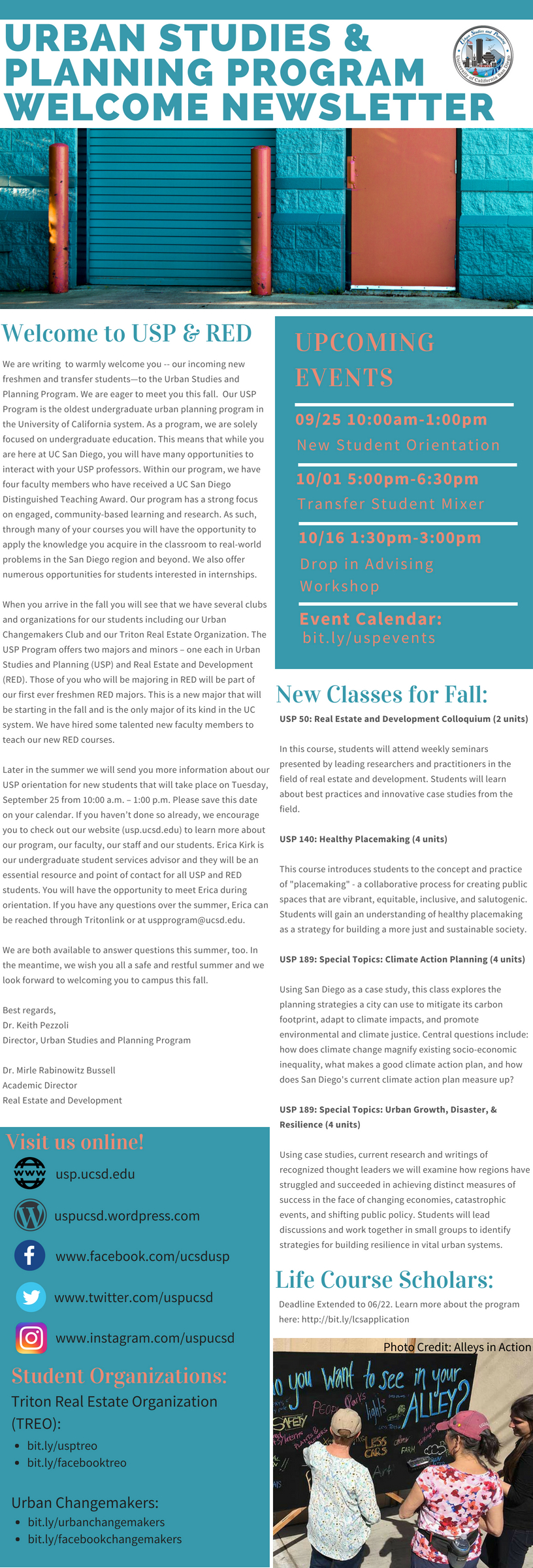 USP Welcome Newsletter