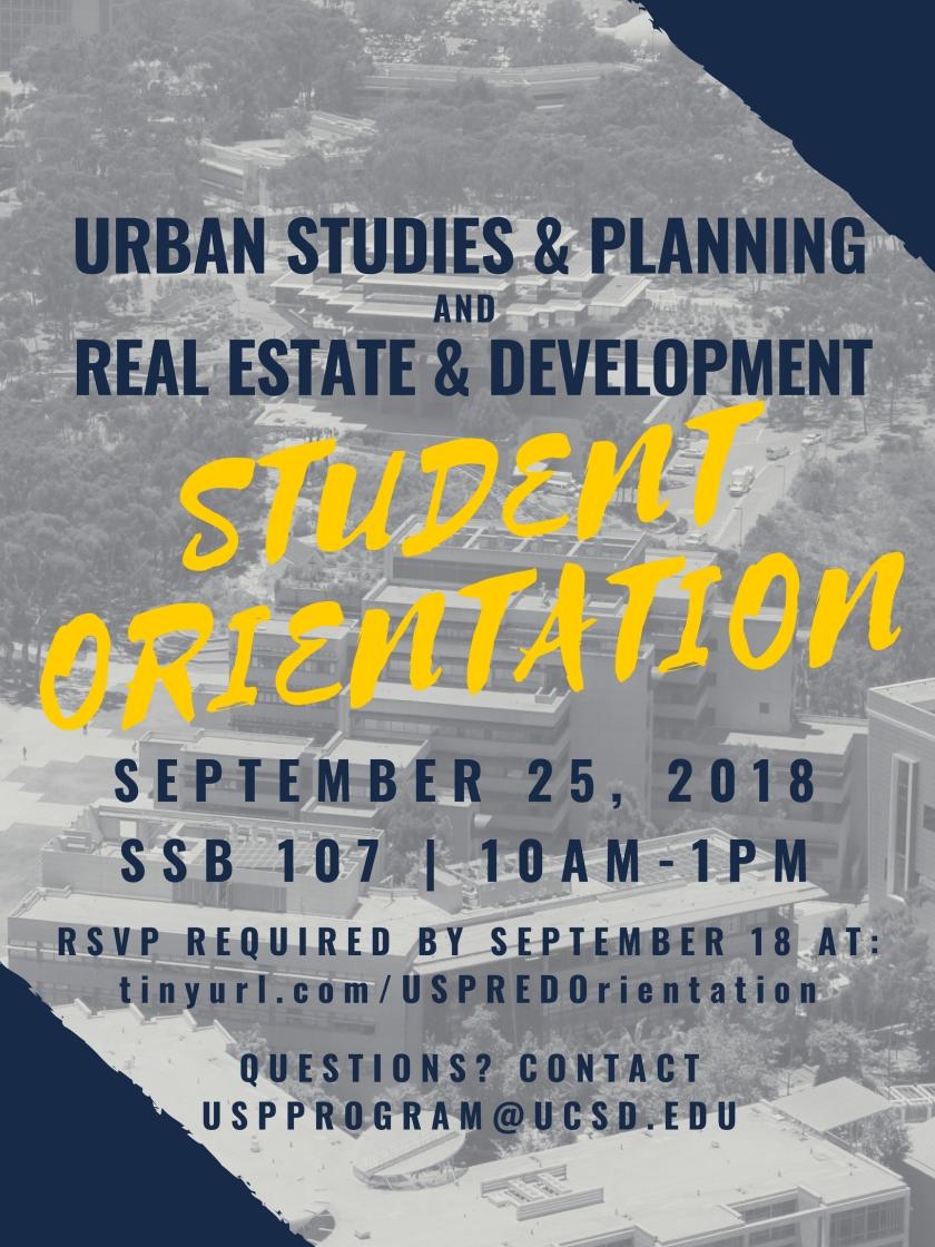 USP Student Orientation Flyer
