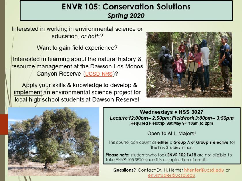 ENVR105 spring 2020 flyer